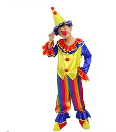 halloween costumes funny kids children circus clown costume naughty harlequin uniform fancy cosplay clothing for boys girls price