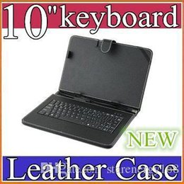 for tablet mid Promo Codes - OEM Black Leather Case with Micro USB wbgith Interface Keyboard for 10 MID Tablet PC JP10-1