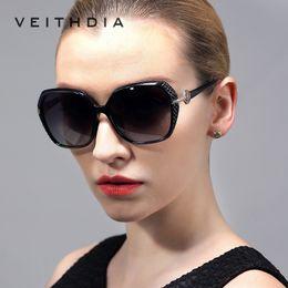 Wholesale High End Sunglasses - VEITHDIA New Arrival High-End LadiesTr90 Hd Polarized Sunglasses women Retro sun glasses and Accessories Female gafas 7021