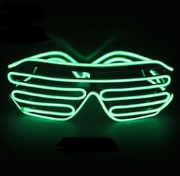 máscara de brilho de festa Desconto Verde Rápido Piscando EL LED Óculos Luminosos Iluminação Do Partido Colorido Brilhante Clássico Brinquedos Para DJ Dança, Máscara Do Partido YH136