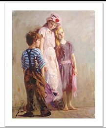 Wholesale Hand Painted Love - Framed The Spirit of Love by Pino Daeni,Hand painted World Famous Impressionist Art Oil Painting Quality Canvas,Mulit sizes available nati07