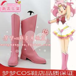 Wholesale Usa Halloween Costumes - Wholesale-Sailor Moon Tsukino Usagi Small Lady Serenity Chibi Usa Cosplay Boots shoes #MM126 Halloween Christmas shoes