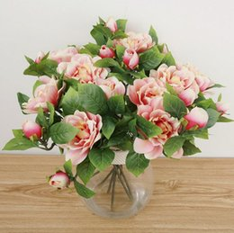 Wholesale K15120 Simulation Gardenia Display flowers bonsai Wedding Flower Home Artificial flowers Valentine s Day Decorative Flower
