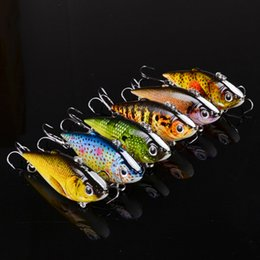 Wholesale Crankbait 5cm - 12pcs Lot Fishing Sinking VIB Lure Vibration Rattle Hook Crankbait Baits 8.6g 5cm Free Shipping