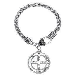Wholesale Kabbalah Chain - My Shape Wiccan Jewelry Pentacle of Jupiter Talisman Key of Solomon Seal Pendant Hermetic Enochian Kabbalah Braceletss