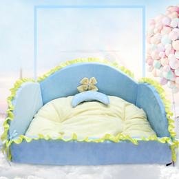 Wholesale Lotus Bedding - Lotus leaf Pet bed Cartoon cat bed kennels dog house cotton Pet Supplies wholesale