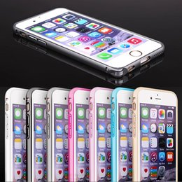 Wholesale Note Metal Aluminium - Slim Hippocampal Buckle Metal Aluminium Frame Bumper Shockproof Case For iPhone SE 5 5S 6 6S Plus Note 4 S6 edge Sony Z1 Z2 Z3 Z4 Z5 10pcs