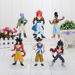 Wholesale Dragonball Z Dbz - 6pcs set New Dragonball Z Dragon Ball DBZ Anime 12cm Goku Vegeta Piccolo Gohan super saiyan Action Figure Toy