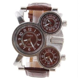 Wholesale Cheap Adventure Time - Wholesale Oulm Adventure Men's Quartz Military fashion Watch with 3-Movt Leather Band.Free shipping. Cheap fashion watches shop