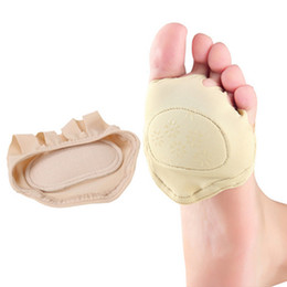 Wholesale Feet Yards - Wholesale-1 Pair High Quality Forefoot Toe Socks Wear Foot Half Yard Palm Pad Nursing Pad Socks Soft Palm Foot Care Pad