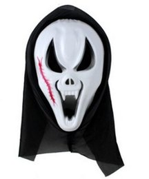 Wholesale Horror Scream - Hot Scary Ghost Face Scream Mask Creepy for Halloween Masquerade Party Fancy Dress Costume