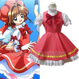 Wholesale Sakura Dress - Wholesale-CARDCAPTOR SAKURA KINOMOTO SAKURA Pink Fluffy Dress With Hat Cosplay Costume