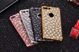 Wholesale 3d Bling Iphone Case - Crystal Bling Diamond 3D Electroplate TPU Phone Case Cover For iPhone X 6 6s 7 8 plus LG G3 G4 G5 stylo3
