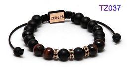 Wholesale Jewellery Bead Designs - 2016 Zenger copper beads bracelet handmade paracorde brand new items 2016 custom men jewellery sting ray newest stingray men design