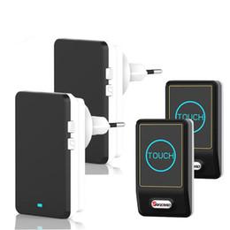 Wholesale Wireless Doorbell Waterproof Button - Original Saful TS-K108 Waterproof Wireless Digital Doorbell Touch Button with EU US AU EU Plug 433.92MHz±200KHz Operate Frequency