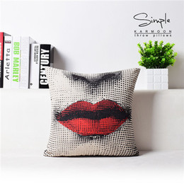 Wholesale Pillow Patterns - Hot Cotton Linen Throw Pillow Case Square Cover Home Tree Pattern