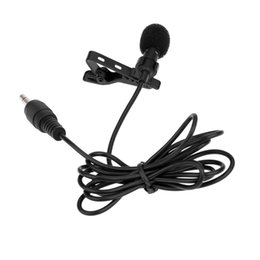 Wholesale Microphone Collar - Super Lapel Lavalier Tie Clip Metal Mono Microphone 3.5mm with Collar Clip for Lound Speaker D1701