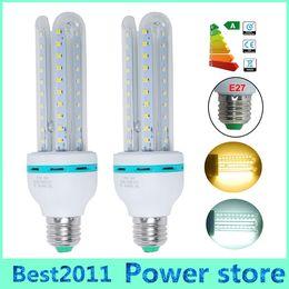 Wholesale Base Energy - SMD 2835 LED Bulbs U Shape bulbs E27 base strong light 85-265V constant curren 12W White Warm white energy-saving