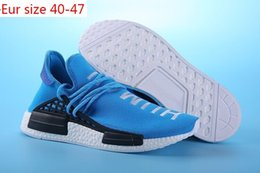 Wholesale Cotton Gifts For Men - Cheap 2017 2016 Gift Shoes Sneakers NMD HumanRace Hot mens Running Shoes sneakers for men Couple Race nmds shoes Human Race Size 36-47