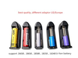 Wholesale Best Universal Battery Charger - 3.7V 450mah 18650 battery Universal Charger single slot Charger For The Best 18650 26650 18500 16340 Battery Fast Recharge