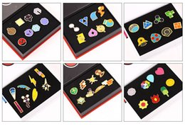 Wholesale badges games - Hot Poke Metal Badge Brooch Poke mon Zinic Alloy Brooch Toy Action Figure PokéMon Go Pocket Monster Game 8pcs set Halloween Christmas Gifts