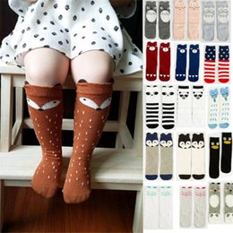 Wholesale Infant Cartoon Animal Socks - 47 Design Unisex Lovely Cute Cartoon Fox Kids baby Socks Knee Girl Boy Baby Toddler Socks animal infant Soft Cotton socks