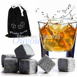 Wholesale Bulk Whiskey Stones - 12PCS Whiskey Wine Stones Cooler Chiller Rocks Glacier Cold Ice Cubes Soapstone Bulk Bar Home Beer Drink Cooler