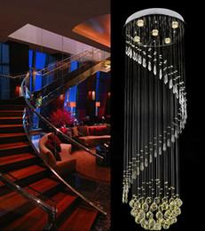 Illuminazione del pendente del corridoio principale online-Moderno K9 trasparente luce di soffitto di cristallo Lampada a sospensione Lampadario Illuminazione interna Illuminazione a LED a soffitto Soffitto Corridoio Lampadari