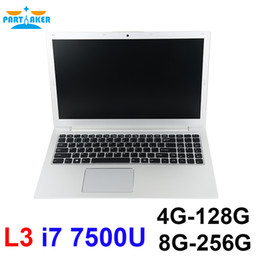 Wholesale Dual Core 15 Laptop - Partaker L3 Newest Laptop i7 7500U Dual Core 15.6 inch UltraSlim Laptop Computer Backlit Keyboard with Bluetooth WiFi