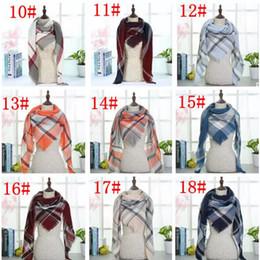 Wholesale Ring Lattice - Plaid Blankets Scarves Tartan Lattice Scarf Grid Scarf Wrap Fashion Neckerchief Winter Shawl Checked Pashmina 40 Styles MOQ 30 pcs