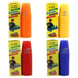 Wholesale Use Toys Wholesale - 12pcs set Magic Flying Cup Game Using The Competitive Sports Toys Contest Creative Challenges Their Own Toys Hand speed sports