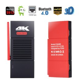 Wholesale Android Stick Dual - CSA95 Android 7.1 TV Box Amlogic S912 MINI PC 2GB 32GB Octa Core 2.4 5G Dual Wifi Dongle TV Stick Bluetooth 4.0 4K H.265 1000M Media Player