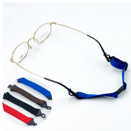 Wholesale Sunglasses Cords Wholesale - 20Pcs Lot New Anti-Slip Sports Adjuatable Glasses Cords Separate Eyewear Sunglasses Ropes 4 Colors Free Shipping