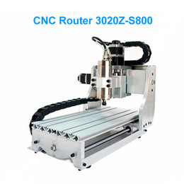 Wholesale Cnc Router Machine Water Cooling - CNC 3020Z-S Mini CNC Engraving Machine With 800W Water Cooling Spindle CNC Router For PCB Drilling & Soft Metal Cutting