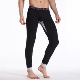 Wholesale Men Purple Girdle - Wholesale-New Men Thermal underpants Cotton Long johns Winter Warm pants Male girdle thermal underwear M-2XL