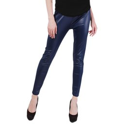 Wholesale Charm Leggings - Wholesale-2016 New Arrival Fall Sexy Women PU Leather Leggings Charming Skinny Legging Fashion Stretch Women Leggings Plus Size DP855345