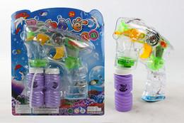 Wholesale Bubbles Guns - utdoor Fun Sports Bubbles 2Bubble Bottle Electric Bubble Gun Automatic Bubble Water Gun Music Flash Bubble Machine Bubble Wand Kids Child