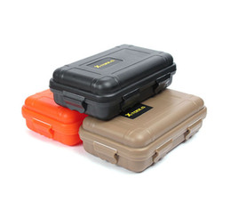 Wholesale Wholesale Portable Tool Boxes - 2016 new 3 COLORS portable Outdoor Plastic Shockproof Waterproof Airtight Survival Case Storage Carry Box Case