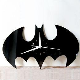 Wholesale Wall Craft Clocks - DIY Funlife Sitting Room Wall Clock   Creative Batman Watches Home Decoration Craft Wall Clock