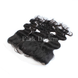 Wholesale Swiss Lace Frontals - Ear To Ear 13x4 Full Lace Frontal Closure Brazilian Body Wave Human Hair Silk Top Swiss Lace Frontals Closures Piece Fast Delivery