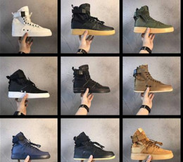 Wholesale Rubber Field - New Colors Vlone Blue Wheat Black White Special Field Military Sneakers Boots Mens Hight Top Designer Shoes Army Boots Free Shipping