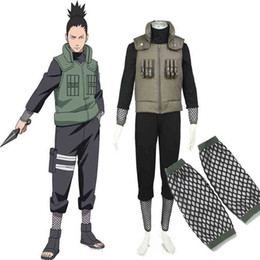 Wholesale Japanese Anime Naruto Cosplay Costume - HOT Popular Japanese Anime Deluxe Naruto Costume Hatake Kakashi Men's Naruto Cosplay Costume For Halloween Free Shipping