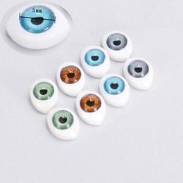 Canada 8pcs Vivid Ovale Creux Dos Sécurité En Plastique Yeux Pour Jouets Poupées Masque DIY 5mm Poupées Accessoires Faire Craft Eye Ball Offre