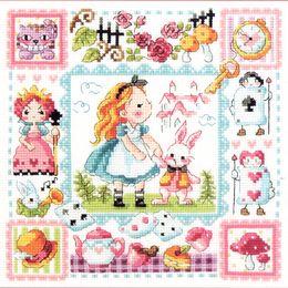 Wholesale Set Alice Wonderland - Needlework DIY Cross Stitch Sets For Embroidery Kits No Printed Alice in Wonderland Counted Cross Stitch