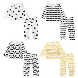 Wholesale Top Clothing Wholesaler China - New Year Baby Boy Girl Set Clothes China Christmas Outfits Pajamas Kid Long Sleeve T Shirt Top+Pant 2PC Suit Children Boutique Pyjamas