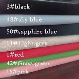 Wholesale Tissue Meter - Hot sale 50*175cm stretchy soft cotton knitted fabric by half meter DIY Lycra cotton T-shirt baby clothing making tissue fabric Peru cotton