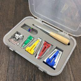 Argentina 4 Tamaños / Set de trébol de tela Bias Tape Maker Conjunto de herramientas de encuadernación Máquina herramienta de coser Acolchar dobladillo Herramientas de costura 6 mm 12 mm 18 mm 25 mm cheap tape machines Suministro