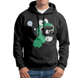Wholesale Frog Pullover - Wholesale Adult 100% Cotton Hoodies Panda Frog Adult Crew Neck Black Gray White make your own sweatshirt Extra large Size Autumn Sweatshirts
