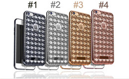 Wholesale Diamond Mobile Phone Cover - High Quality Diamonds Soft Electroplating TPU Mobile Phone Case Back Cover For iPhone 5s 6 6Plus