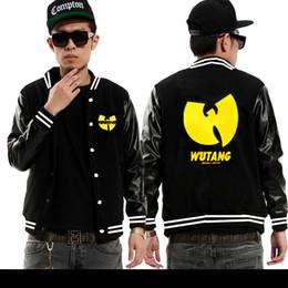 Wholesale Discount Coats For Men - Wholesale- Wu tang baseball jackets for men fashion hip-hop mens coats free shipping new discount Wu tang clothing hip hop jackets